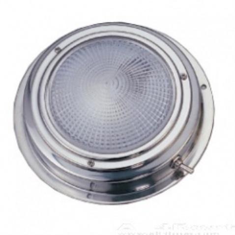 Světlo kajutové, stříbrné - průměr 11cm, žárovka 8W - patice G4