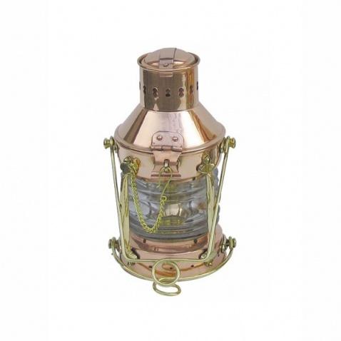 Lampa petrolejová, vrcholová měď,v.24cm