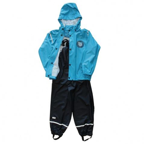 Bunda+kalhoty HELLY HANSEN dětský komplet blue/black 128