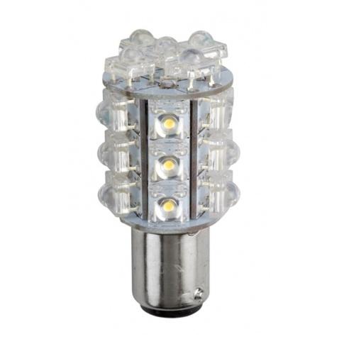 Žárovka 12V, LED bílá, 2-pólová, různá vzdálenost úchytu