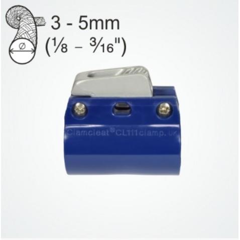 CL244 + CL111 Zásek s objímkou (modrá) na trubku 34-36mm