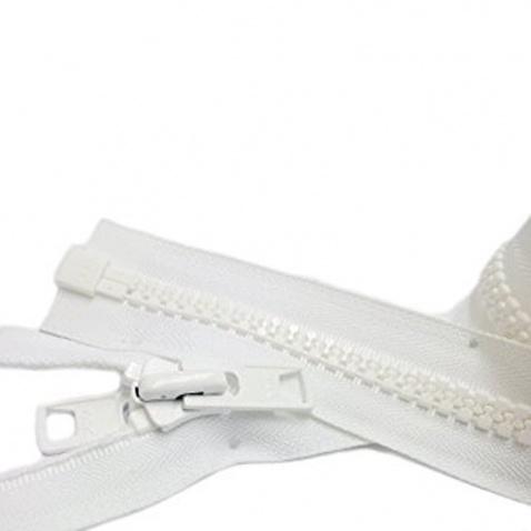 Zip YKK kostěný , bílý - délka 800 cm
