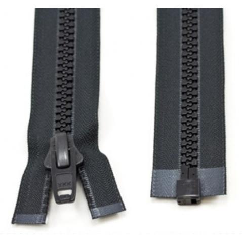 Zip YKK kostěný , černý - délka 200 cm