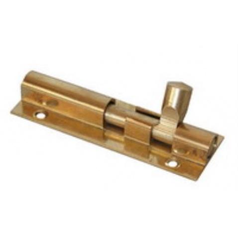 Zámek zasouvací skříňový zlatý 50mm