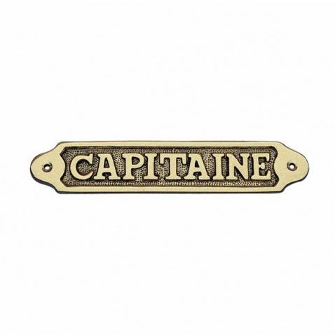 Cedulka CAPITAINE - mosaz