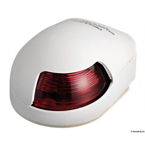 Světlo poziční 112,5° červené, 80x58x38v, bílý plast