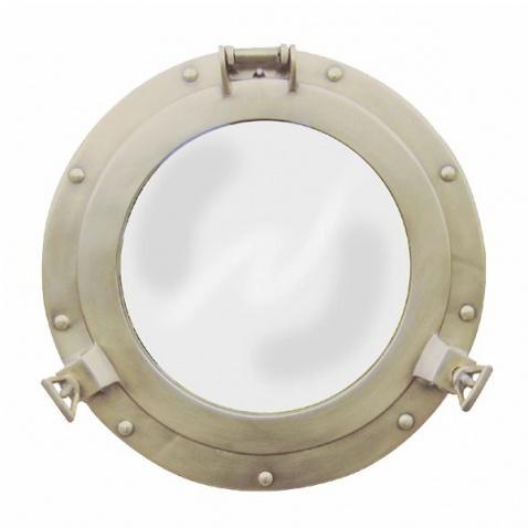 Zrcadlo,prům.28,5cm,antická mosaz