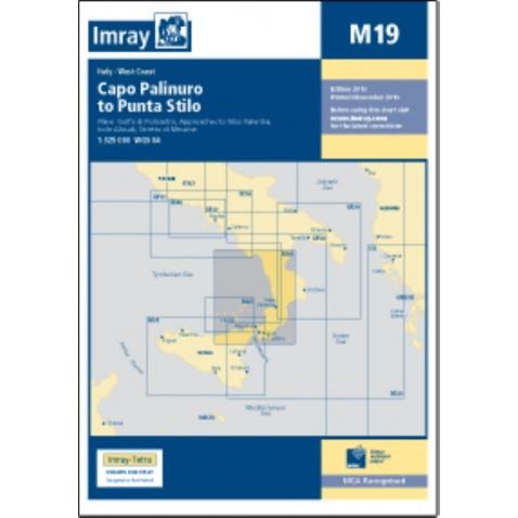 Mapa M19 Capo Palinuro to Punta Stilo