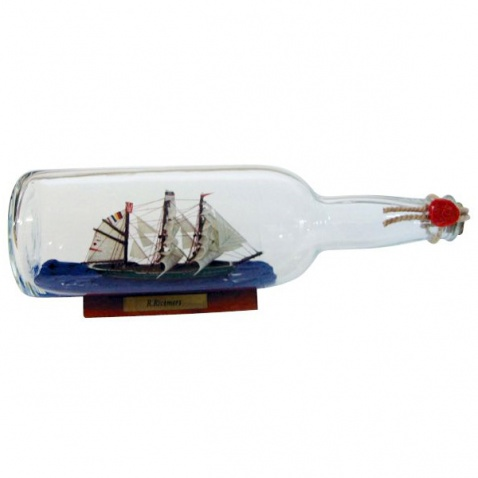 Model lodi v láhvi - plachetnice RICKMER RICKMERS