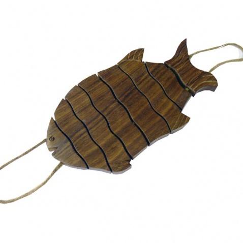 Podložka pro hrnec - ryba, dřevo