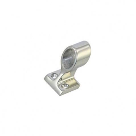 Patka zábradlí průchozí, čtvercová základna, 22mm, 60°