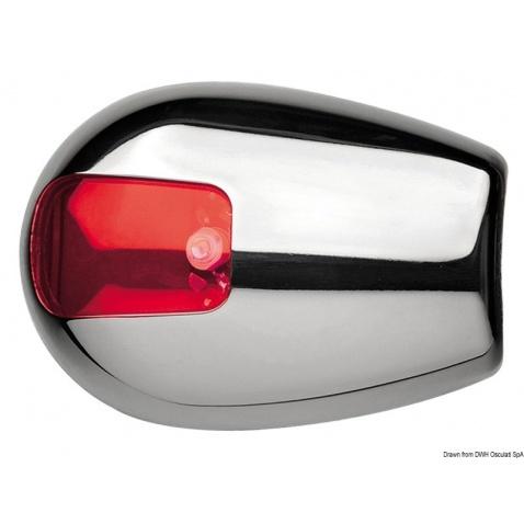 Poziční světlo, červené, boční montáž, pro lodě do 12m