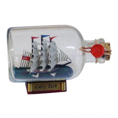 Model lodi v láhvi - plachetnice CUTTY SARK