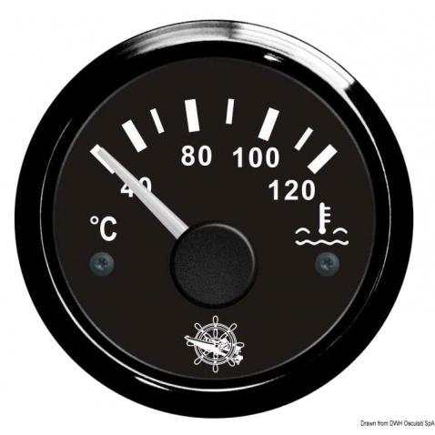 Teploměr voda, 40-120°, černý