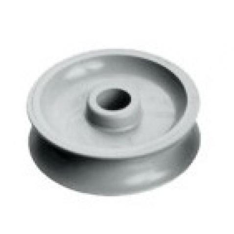 Kolečko kladky acetal, 12x38mm, díra 8mm