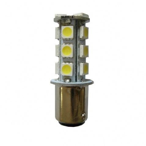 Žárovka 12 V, LED, 2-polová, (18x led), bílá, různé vzálenost úchytů