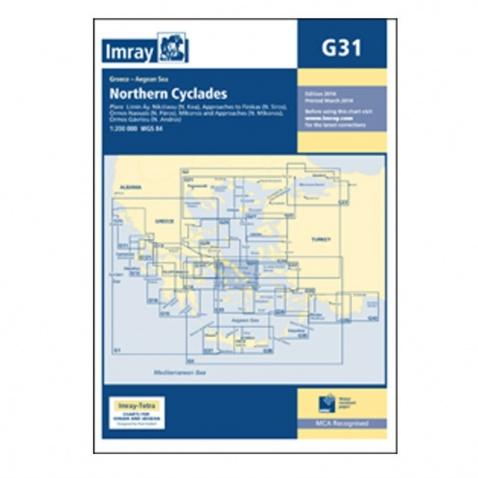 Mapa G31 Northern Cyclades