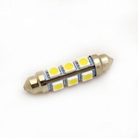 Žárovka 12V, sufitka, 12x LED, 44mm