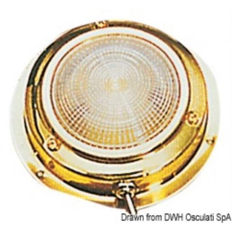Světlo kajutové zlaté 14cm