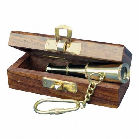 Přívěšek na klíče - dalekohled v krabičce