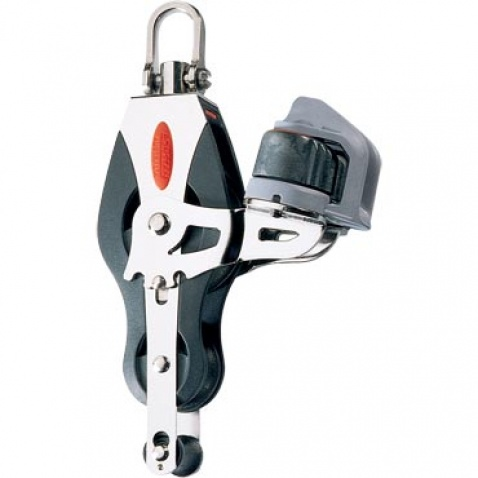 Dvojkladka RF40530 Fiddle block, becket, adjustable cleat, universal head