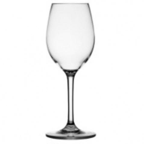 Sklenice na víno a protiskluzem průhledná,v.21cm
