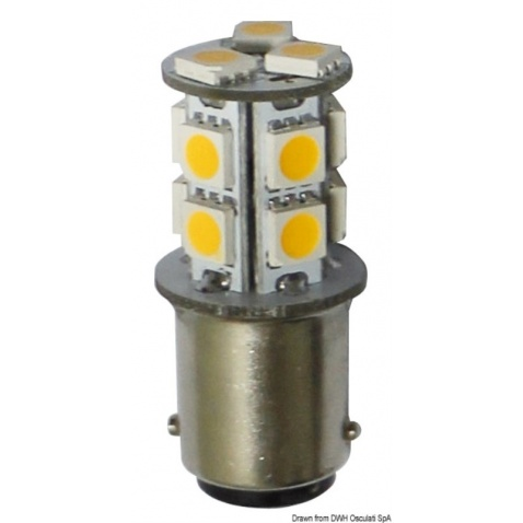 Žárovka LED, 2-polová, bílá