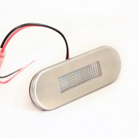Světlo oválné IP67,  LED, 0,2W white, 12V, 85x30mm,kryt nerez