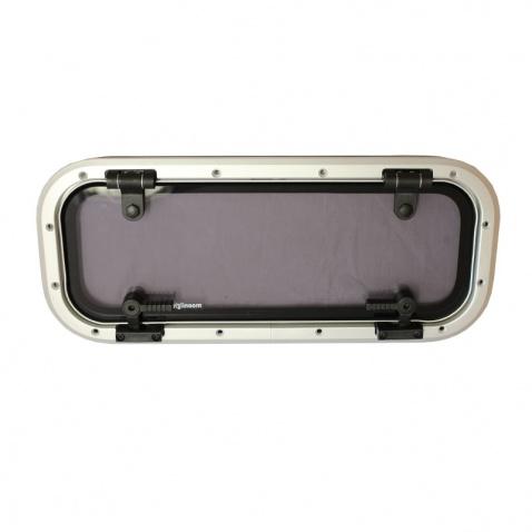 Okno boční otevírací(plast.rám+síť) rád.52, 447x190mm