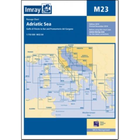 Mapa M23 Adriatic sea