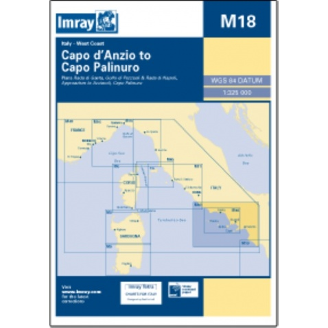 Mapa M18 Capo d'Anzio to Capo Palinuro