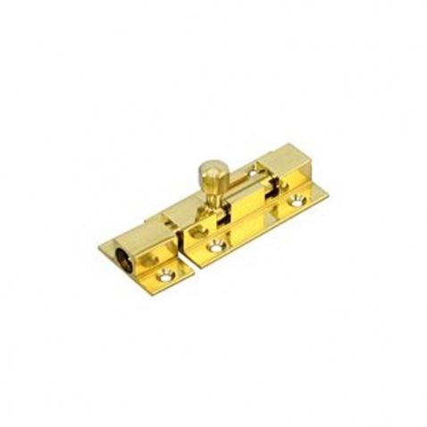 Zámek zasouvací skříňový zlatý 75mm