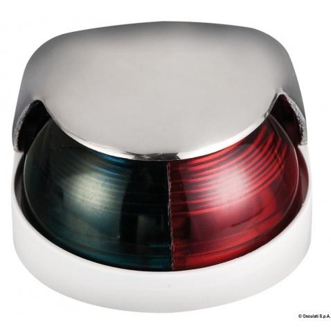 Světlo poziční 112,5°+112,5° červená + zelená, nerez + bílý plast
