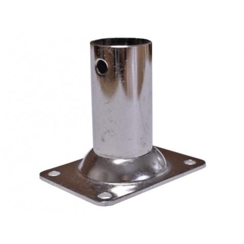 Patka zábradlí s trubkou, 90° - průměr 22 mm,obdelníková podstava