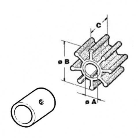 Impeller 500116.GX, Volvo Penta, Johnson, Jabsco