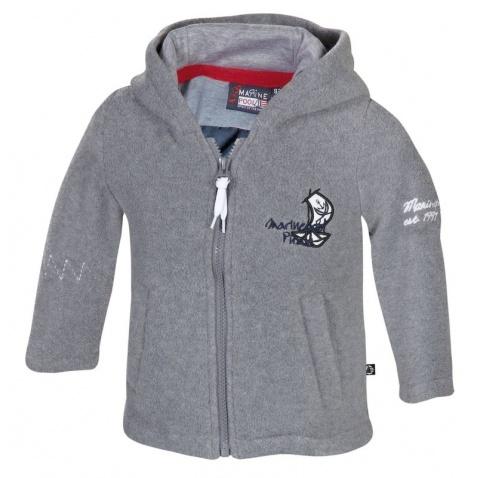 Bunda Marinepool Pirate Fleece Hoodie dětská grey melange