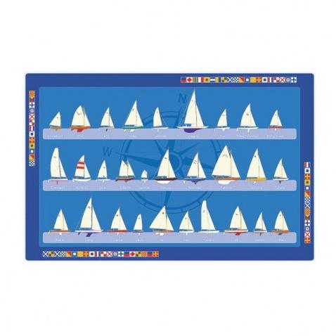 Prostírání PVC-vzor plachetnice