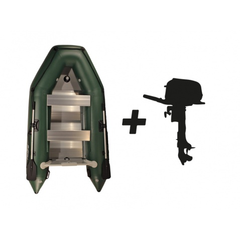 Nafukovací člun Rapid HD 330alu - green + motor