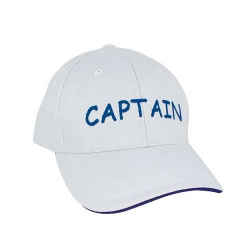 Kšiltovka SC-nápis Captain, white