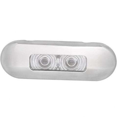 Světlo oválné, LED 0,7W bílé