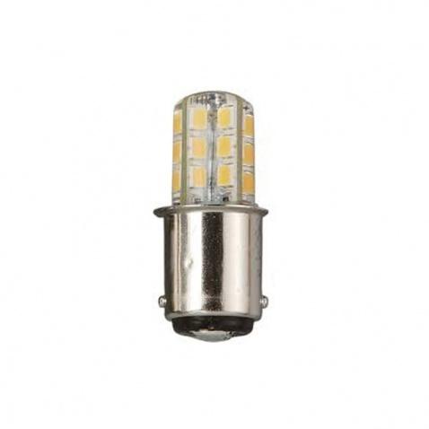 Žárovka 12 V, LED, 2-polová, 2W, bílá, stejná vzálenost úchytů