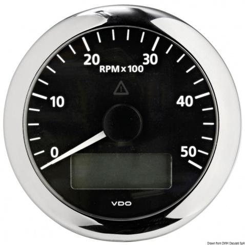 Otáčkoměr VDO 0-3000 rpm, černý