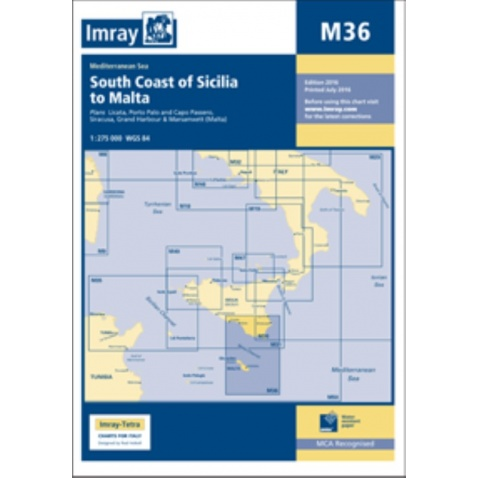 Mapa M36 South Coast of Sicilia to Malta
