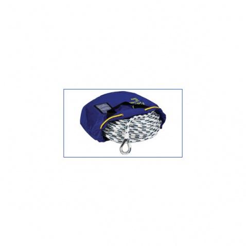 Lano s olovem Handy anchor - délka 30 m pr. 10 mm white-blue