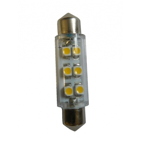Žárovka 12V, LED, 1,2W, 43mm