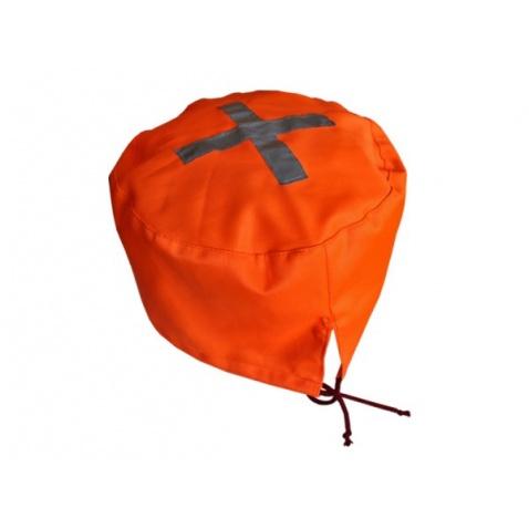 Kryt na propeler látkový oranž,prům.27cm