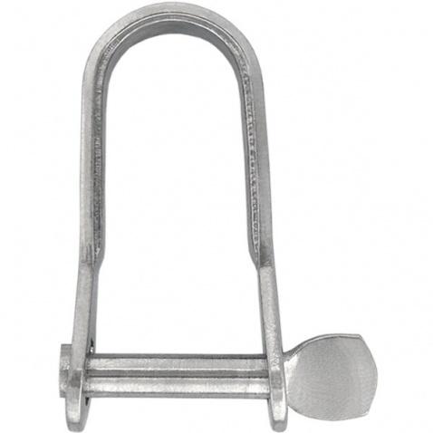 Šekl plechový, se šroubovacím čepem, prům.čepu 5mm(šroub.),vnitř38x16mm