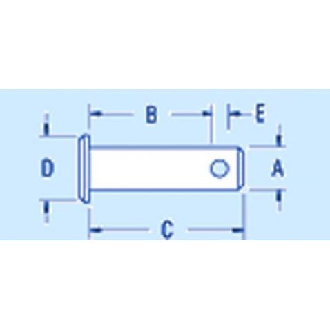 Čap pr. 4,8mm/dĺžka25mm - RF262 Clevis pin