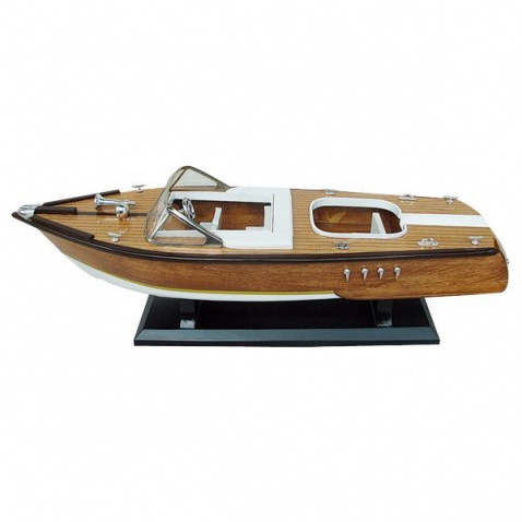 Model lodi - motorový člun 50x15cm