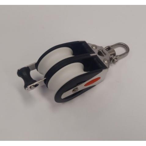 Dvojkladka RF41212 Double block, becket, 2-axis shackle head